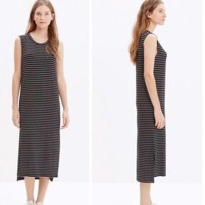 Madewell l Sleeveless Tee Dress in Stripe